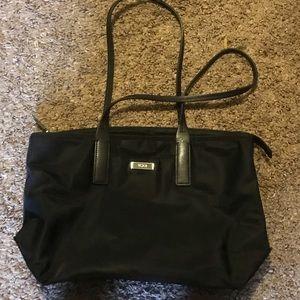 Tumi black nylon handbag